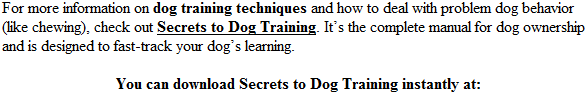 dog training secrets