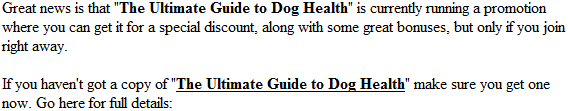 ultimate dog health